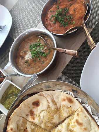 Zub Express Restaurant: naan with coconut fish and prawn tomato base sauce...delicious