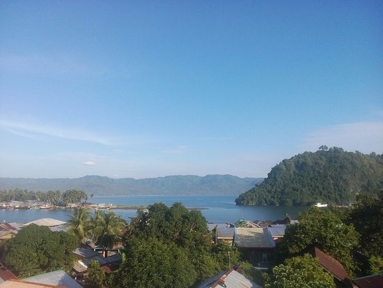 Tandag, Filipinas: view from the roof top of Qbens Lodge
