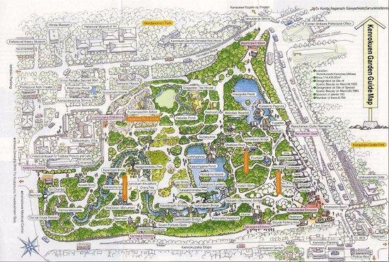 Garden Map Picture of Kenrokuen Garden Kanazawa TripAdvisor