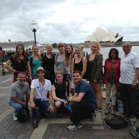 The Welcome Walking Tours' Free Tour of Sydney in front of the Opera House
