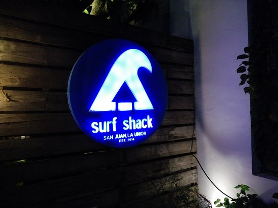 Surf Shack: the sign of the restobar