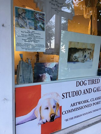 Dog Tired Studio and Gallery: gallery window
