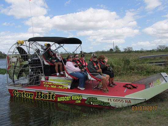 Gator Bait Airboat Adventures: our tour group