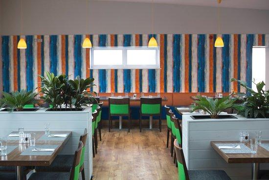 St Columb Major, UK: Inside dining area