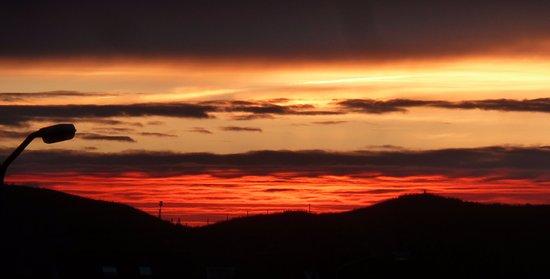 Callantsoog, The Netherlands: zonsondergang vanaf balkon