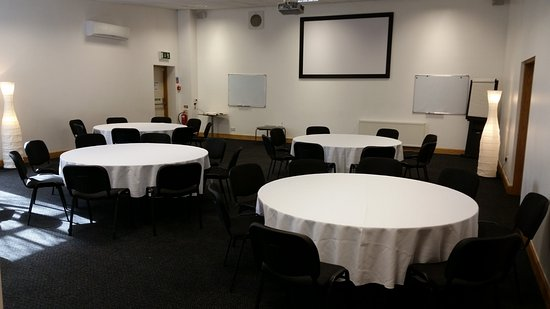 The Vine Conference Centre: The Pentland Room - set up with round tables
