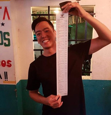 Sancho Cantina: MEET EDGAR!!! LONGEST BILL IN SANCHO'S HISTORY