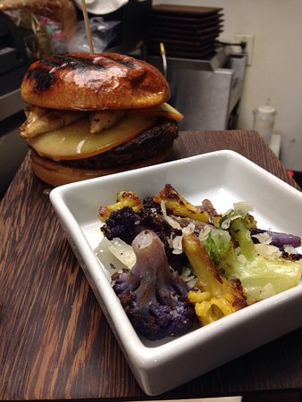 Three Squares Craft Kitchen & Cocktails: Bone marrow burger, beer battered fish &chips, house made potato skins, all grown up grilled che