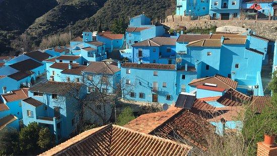 Juzcar, Malaga. El pueblo de los pitufos.