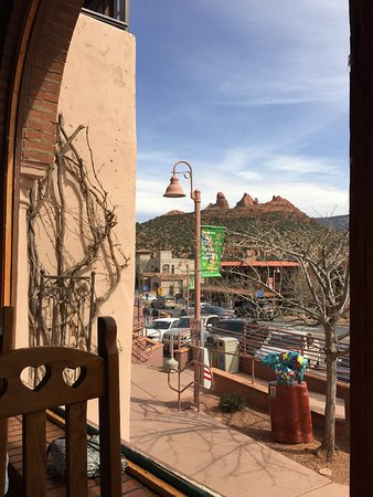 Oaxaca Restaurant: One of the views we had while eating.