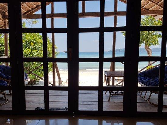 Saracen Bay Resort: Vue depuis la chambre : waouh !