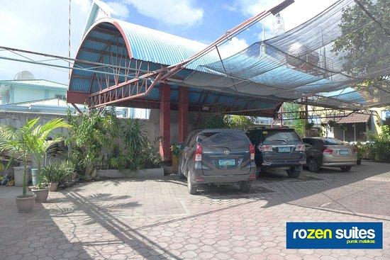 Covered Parking Area inside Rozen Suites Malakas
