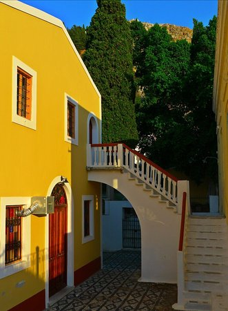 Colorful Symi houses