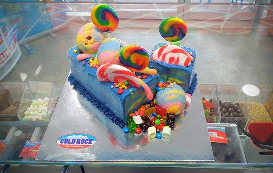 Cold Rock Ice Creamery: themed birthday party celebration ice cream cake everton park