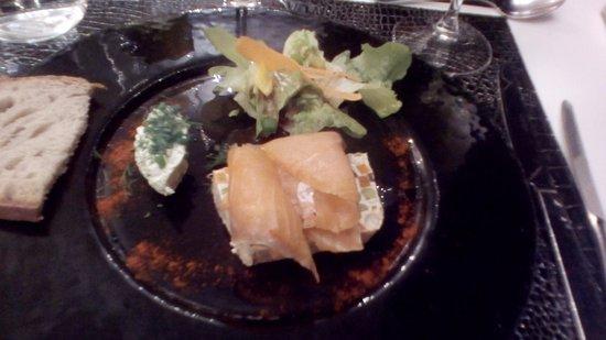 Auberge de la Lieue: fan de légumes et saumon saumé
