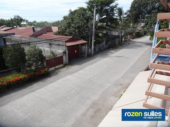 Rozen Suites Paradise: Sebastian Street as viewed from our Queen or Double Rooms