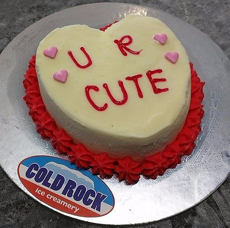 Cold Rock Ice Creamery: Love Valentines day celebration cakes