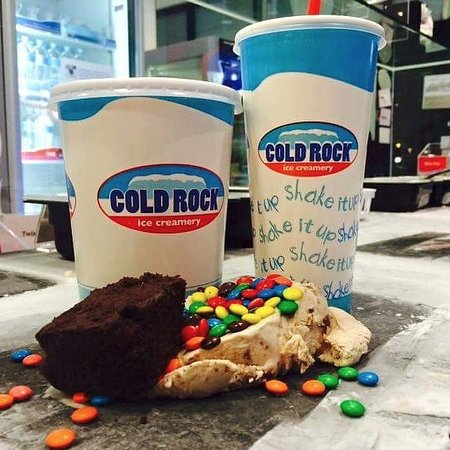 Cold Rock Ice Creamery: Milkshake money cold rock supa shake