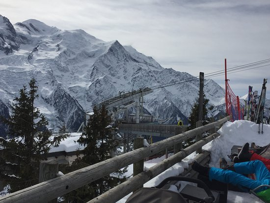 Brevent Cable Car: View from Restaurant Le Comptoir du Plan Praz.