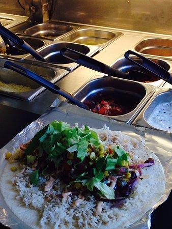Poco Loco: Burrito in progress
