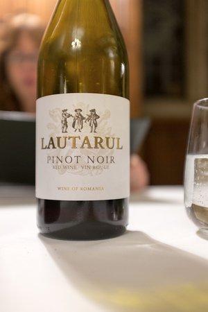 Rushton Hall Hotel and Spa: Romanian Pinot Noir (Huge quality/Price ratio)