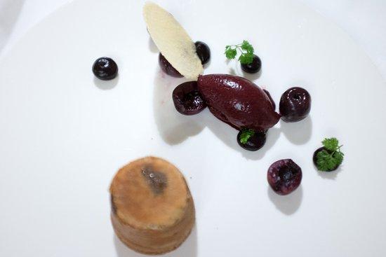 Rushton Hall Hotel and Spa: Cherry Dessert