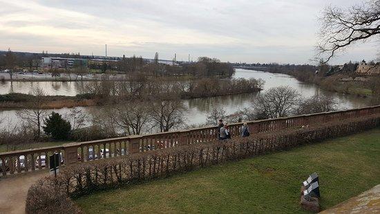 Schloss Johannisburg mit Schlossanlagen: The river Main from the backyard of the palace.
