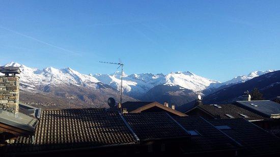 Montchavin, فرنسا: view from restaurant