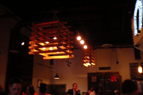 Taqueria del Mar reclaimed wood lighting