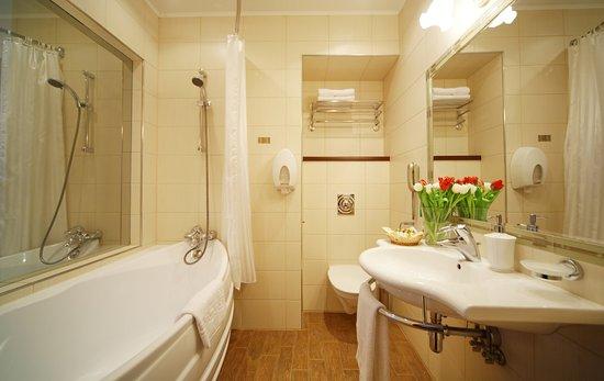 Pushka Inn Hotel: Bathroom in the Comfort room