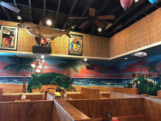 Iguanas Seafood Restaurant Mural Inside St Simons Island Ga