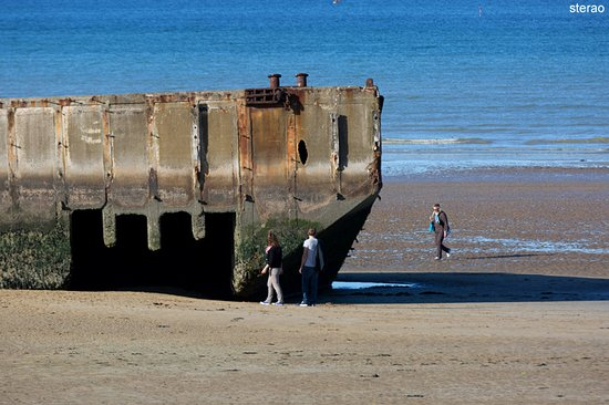 Arromanches-les-Bains, ฝรั่งเศส: Arromanches Port Mulberry