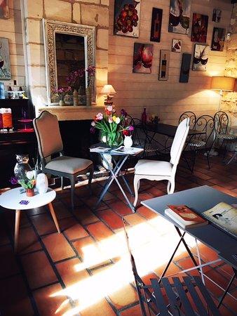 Margaux, France: salle du dejeuner et petit dejeuner