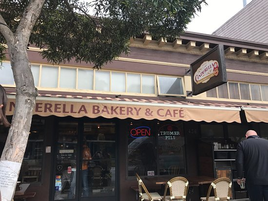 Cinderella Bakery : Outside seating on a nice overcast day