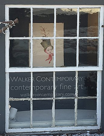 Walker Contemporary: Anne Siems painting in the window
