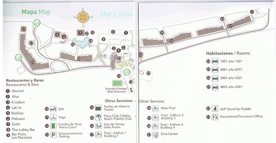 Resort Map - Picture of Akumal Bay Beach & Wellness Resort, Akumal ...