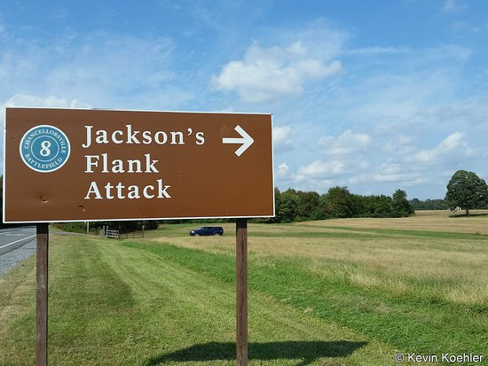 National Military Park Civil War General Stonewall Jackson' Flank Attack