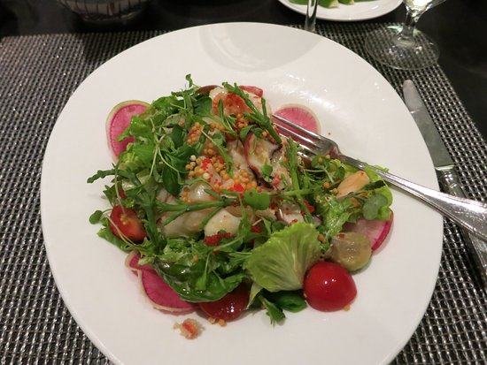 Azure Restaurant: Ocean Salad - lobster prawns abalone scallop crab octopus caviar