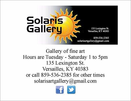 Versailles, KY: Solaris Art Gallery  Correct location
