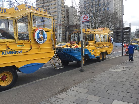 London Duck Tours: Had a great tour unfortunately the day we went it was storm Doris  so we didn't get to experienc