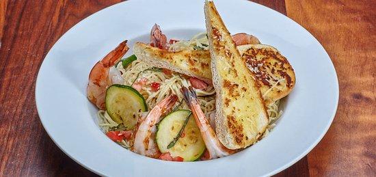 Balboa Island, Kalifornia: Shrimp Scampi Capellini