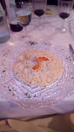 Busnago, Italy: Risotto all'arancia