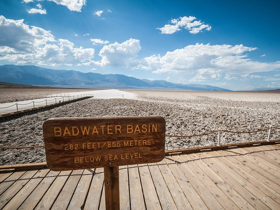 California Desert, Californië: Badwater Basin in Death Valley National Park