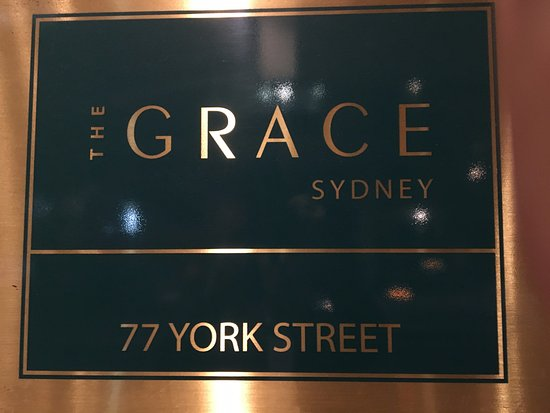 The Grace Hotel Sydney: Hotel sign near front door