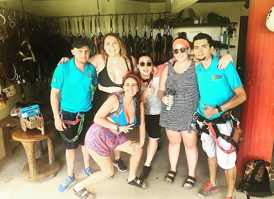 SunTrails Montezuma Waterfall Canopy Tour : Pura vida! Me and 5 friends had the time of our life, zip-lining, waterfall, wild animals... hig