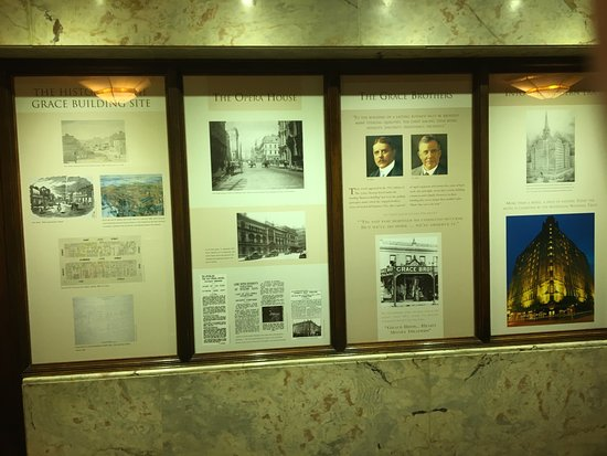 The Grace Hotel Sydney: Hotel history display