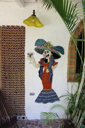 Hacienda Mosaico: Art work created at 2017 workshop with Bonnie Fitzgerald