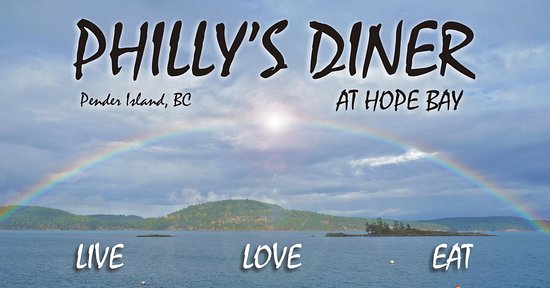 Philly's Diner: Located on Pender Island at Hope Bay