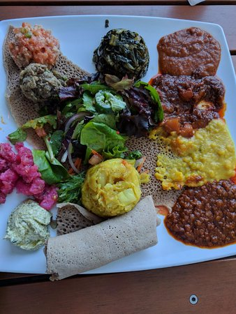 Desta Ethiopian Kitchen: Vegan dish (forgot to take a picture of the back of the menu, so I don't remember the name).