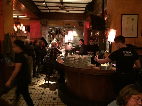 Evanston, IL: The curved wood bar
